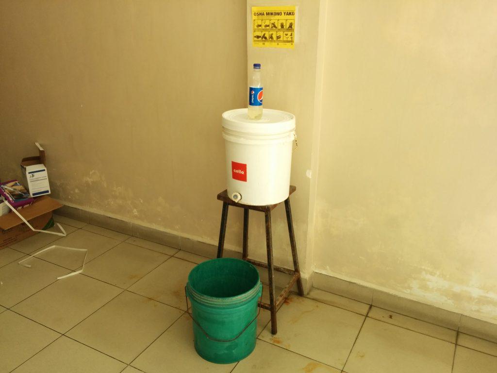 Handwashing Station at the Mnazi Moja Hospital