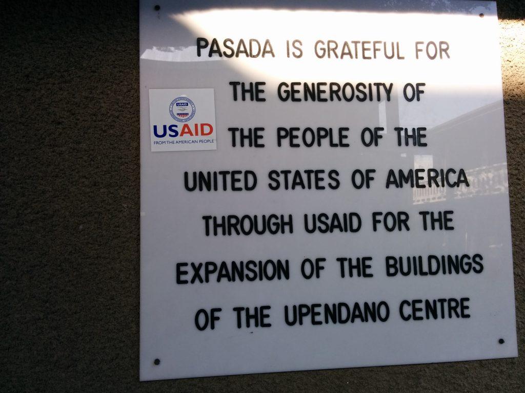 PASADA Donor Acknowledgment