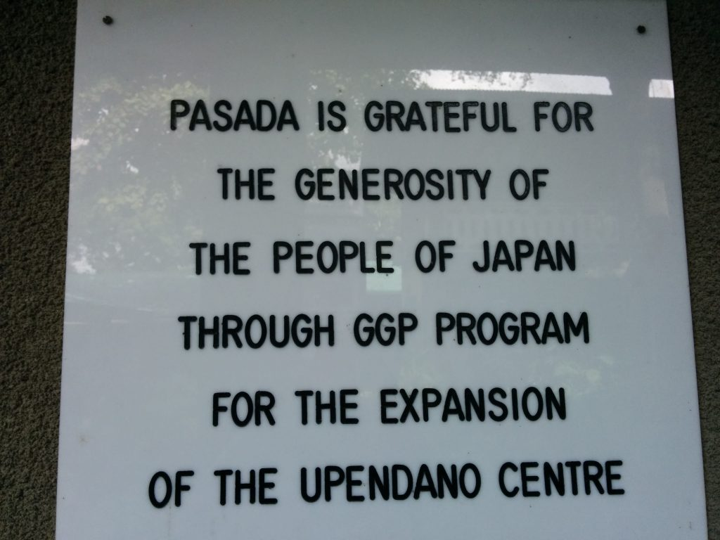 PASADA acknowledges aid from Japan