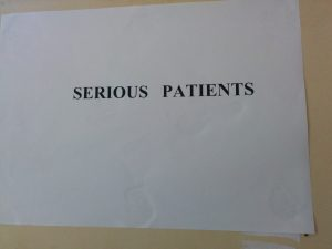 "A ward for ""serious patients"""